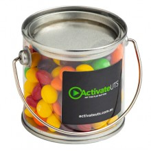 Small PVC Bucket Filled with Skittles