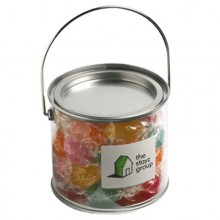 MEDIUM PVC BUCKET FILLED WITH TWIST WRAPPED BOILED LOLLIES 300G