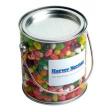 Big PVC Bucket filled with JELLY BELLY Jelly Beans