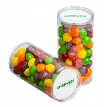 PET TUBE FILLED WITH SKITTLES 100G
