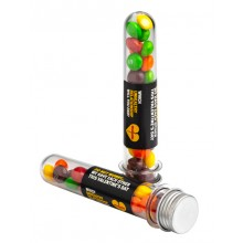 TEST TUBE FILLED WITH SKITTLES 40G