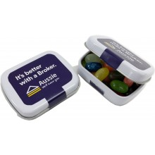 Small Rectangle Tin filled with Jelly Beans 30g