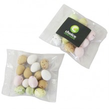 Candy Coated Chocolate Eggs in Bag 50G