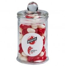 APOTHECARY JAR FILLED WITH JELLY BEANS 115G
