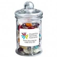 BIG APOTHECARY JAR FILLED WITH BOILED LOLLIES 700G/ x88