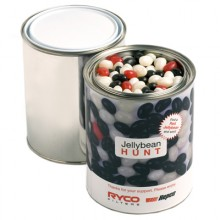 PAINT TIN FILLED WITH JELLY BEANS 1KG (Mixed Colours or Corporate Colours)