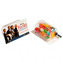 Biz Card Treats with Jelly Beans