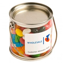Small PVC Bucket Filled with Jelly Beans