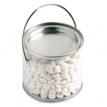 MEDIUM PVC BUCKET FILLED WITH MINTS 400G(Normal Mints)