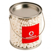 BIG PVC BUCKET FILLED WITH MINTS 950G (Normal Mints)