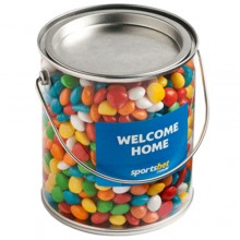BIG PVC BUCKET FILLED WITH CHEWY FRUITS (SKITTLE LOOK ALIKE) 950G