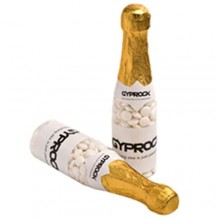 CHAMPAGNE BOTTLE FILLED WITH MINTS 220G X 1 STICKER (Normal Mints)