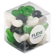 JELLY BEANS IN CUBE 60G (Corp Coloured or Mixed Coloured Jelly Beans)