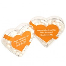 ACRYLIC HEART FILLED WITH MINTS 50G