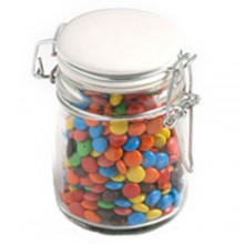 Glass Clip Lock Jar with M&Ms 160g