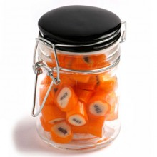 CHRISTMAS ROCK CANDY IN CLIP LOCK JAR 125G