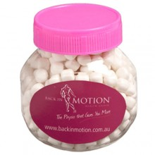 PLASTIC JAR FILLED WITH MINTS OR CHEWY MINTS 170G