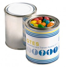 PAINT TIN FILLED WITH JELLY BEANS 225G (Mixed Colours or Corporate Colours)