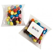 CHOC BEANS IN PVC PILLOW PACK 50G