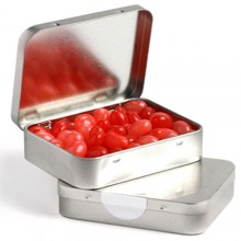 RECTANGLE HINGE TIN FILLLED WITH JELLY BEANS 65G (Mixed Colours or Corporate Colours)