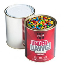 PAINT TIN FILLED WITH M&Ms 1 kg