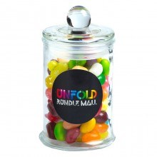 Small Apothecary Jar filled with JELLY BELLY Jelly Beans 115g