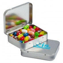 Rectangle Hinge Tin filled with JELLY BELLY Jelly Beans 65g