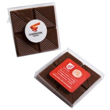 x4 piece chocolate block in PVC stand up box, 15g