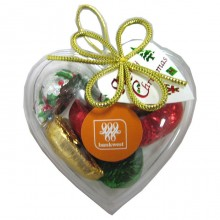 Acrylic Heart filled with Christmas Chocolates 65g