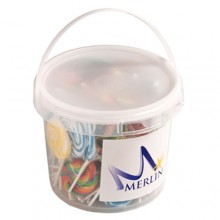 2.4L BUCKET filled with Medium Candy Lollipops